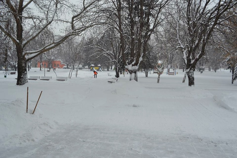 При екстремни условия протича снегопочистването в Белене