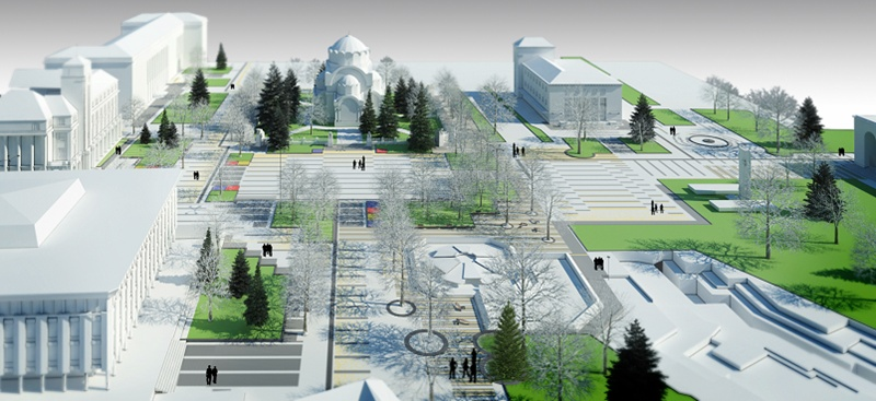 115 дървета засаждат в центъра на града, Плевен ще има и нова коледна елха