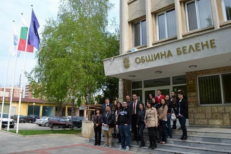 Студенти от Свищов гостуваха в Община Белене