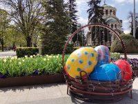 Огромната кошница с великденски яйца отново радва плевенчани