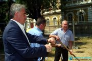 """Първа копка по проект """"Осигуряване на устойчива градска среда на Плевен"""""""