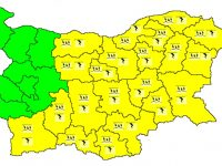 Жълт код за валежи и гръмотевици е в сила за 8 юни в Плевен
