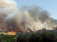 """Огнен ад близо до жилищни блокове в """"Дружба""""! (снимки+видео)"""