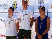 Два златни и по един сребърен и бронзов медал за плевенските триатлонисти