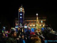 Грейнаха светлините на елхата в Плевен! (галерия + видео)