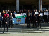 Над 100 надзиратели и съдебни охранители излязоха на протест в Плевен (снимки)