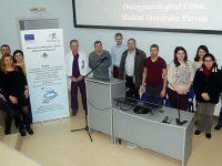 В 3D-студиото в МУ – Плевен докторанти, специализанти и млади учени наблюдаваха робот-асистирана операция, демонстрирана от проф. Горчев
