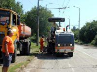 Продължава изкърпването на дупки и асфалтирането на улици в Плевен