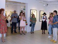 """Изложба """"Съвременна българска графика"""" бе открита в Кнежа"""