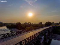 Някъде край Плевен – полет над Историческия мост на река Вит (видео)