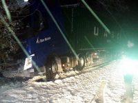 """Над 30 камиона са закъсали тази нощ в местността """"Шумата"""" на пътя Плевен – Русе"""
