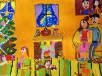 """Рисунка на 8-годишна художничка от арт школа """"Колорит"""" става коледна картичка"""