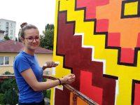 Проект на талантлива художничка от Кнежа разкраси фасадата на детска градина в столицата