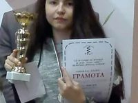 Патрицие Найманова започна новата година с купа от турнир по класически шахмат