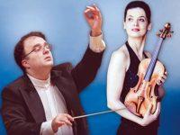 Диригентът Найден Тодоров и цигуларката Божидара Кузманова в концерт с Плевенска филхармония днес