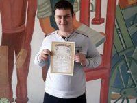 """Ученик на ПГМЕТ-Плевен с награда от проекта """"Народните будители и Аз"""""""