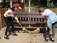"""Ученици направиха по-приятна за игра и почивка детска площадка в """"Кайлъка"""""""