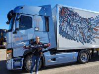 Плевенчанин с награда за най-бърза смяна на гума на камион в света