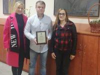 """Директорът на НУ """"Христо Ботев"""" – Плевен с поредно отличие"""