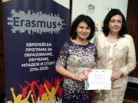 Проект на Езикова гимназия – Плевен с европейски знак за качество и с национална награда