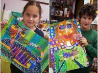 """Златни награди за малки художници на Артшкола """"Колорит"""" от световния фестивал """"Малък Битолски Монмартър"""""""