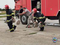 Изпит по противопожарна подготовка се проведе във Военновъздушна учебна база