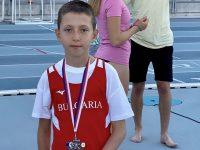 Сребърен медал за плевенчанина Йоан Орозов на Европейските детски лекоатлетически игри