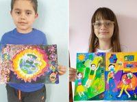 """Две деца от Артшкола """"Колорит"""" – Плевен са победители в световен конкурс за рисунка"""