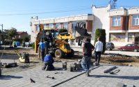 Община Гулянци извършва ремонт на площадите в четири населени места