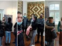 Урок по родолюбие проведоха ученици на ПГМХТ – Плевен сред красотата на чипровски килими