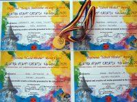 """Престижни награди за деца от Артшкола """"Колорит"""" – Плевен от конкурс в Румъния"""
