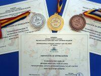 """Златен, сребърен и бронзов медал за деца от Aртшкола """"Колорит"""" – Плевен от конкурс в Румъния"""
