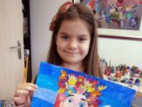 """6-годишна художничка от Артшкола """"Колорит"""" – Плевен спечели бронзов медал от конкурс в Япония"""