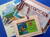 """10-годишна художничка от Артшкола """"Колорит"""" – Плевен с медал и Сертификат на ООН от международен конкурс"""