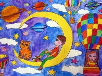 """Творби на 21 деца от артшкола """"Колорит"""" – Плевен влязоха в Световния музей на детското изкуство"""