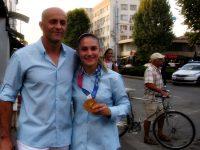 Ивет Горанова и треньорът й Ангел Ленков с по-висок дан в карате