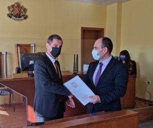 Венцислав Фердинандов встъпи в длъжност като заместник-окръжен прокурор на Окръжна прокуратура-Плевен